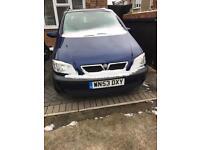 2003 Vauxhall Zafira 1.6 Petrol + 1 years MOT
