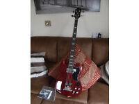 New & Unused Epiphone EB-3 Model Bass Guitar, Cherry