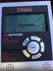 York Aspire fitness exercise bike.