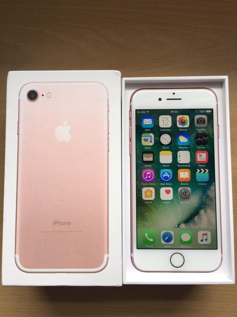 iPhone 7 Rose Gold 32gb on EE with Apple Warrantyin Derby, DerbyshireGumtree - iPhone 7 Rose Gold 32gb on EEApple Warranty til March 2018Collection from Burton or Please ask for local delivery. Thanks £385 NO Offers