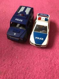 Playmobil police car and van