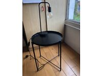 Industrial lamp and table sold together