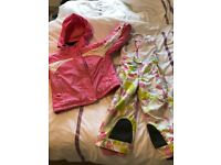 Girl's Ski Suit (Jacket and Salopettes, brand Spyder, aged 4-5 approx.)
