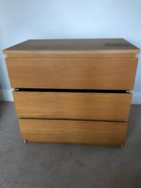 Ikea malm 3 drawer chest