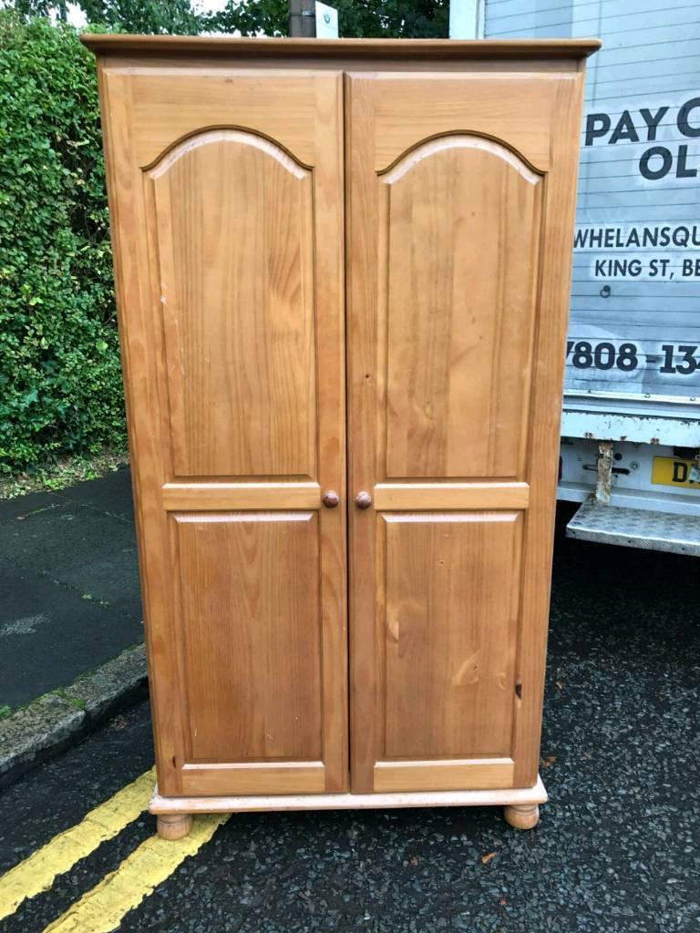 pine wardrobes £80 a piece pine chest £50