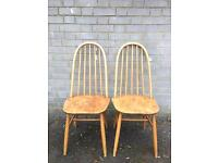 GENUINE ERCOL VINTAGE CHAIRS FREE DELIVERY LDN🇬🇧