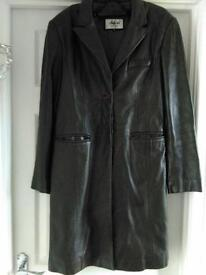 Ladies real leather jacket - size 12