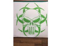 "Toxic Skull car/truck vinyl sticker 20""x 23"""