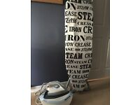 Minky ironing board and hoover steam iron