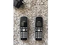BINATONE Symphony 2210 Cordless LANDLINE Phone & Twin Extra Dock with Answering Machine