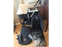 Immaculate bugaboo cameleon 3 unisex with footmuff parasol