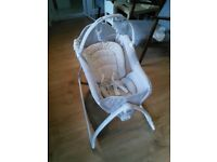 Graco Little Lounger, with birdies toy bar
