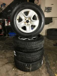 SELLING 2 SETS OF TOYOTA VENZA WINTER SNOW TIRES & RIMS 5X114.3 BOLT PATTERN 60.1 CENTER BORE & IN EXCELLENT CONDITION.