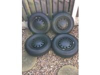 Escort van steel wheels with good tyres