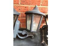 3 Outdoor electric black lanterns