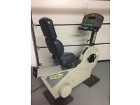 Technogym recumbant exercise bike in excellent condition