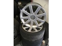 "* Audi tt golf skoda seat leon other cars wheels 18"" perfect condition*"