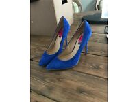 Top shop blue heels size 38