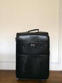 Leather suitcase 43x68 cm