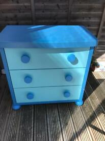SOLD- Ikea blue kids dressing table.