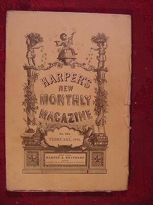 HARPER'S February 1884 THAMES JOSEPH HATTON WILLIAM BLACK A F OAKEY E P ROE +++