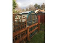 Greenhouse with plastic frame for sale - collection only - great deal