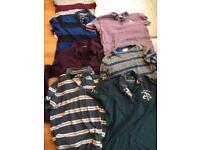 Men's designer tshirts and shirt bundle medium