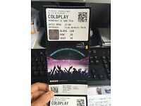 Pair of Coldplay tickets 15th June
