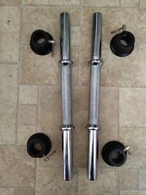 """15"""" dumbbell bars with collars"""