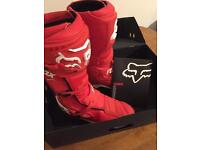 Fox comp 8 boots size 12 with box