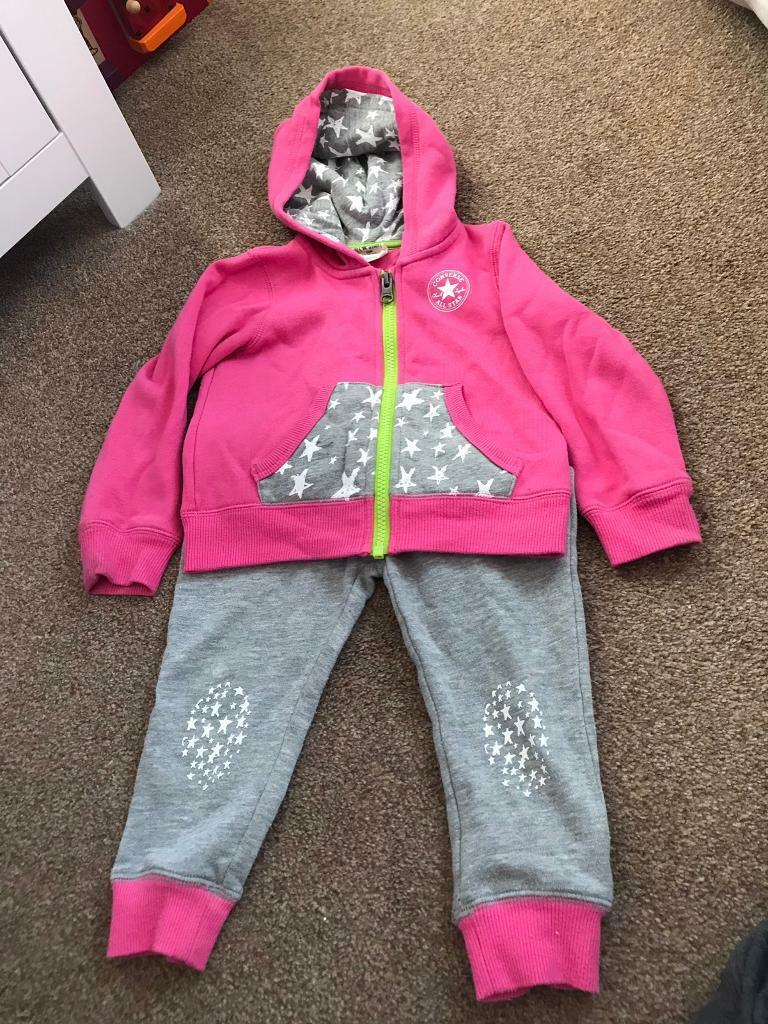 109bbcedfb42 Girls Converse Tracksuit (size 24 months)