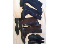 Ladies boots x 3 size 7 inc Hush Puppies