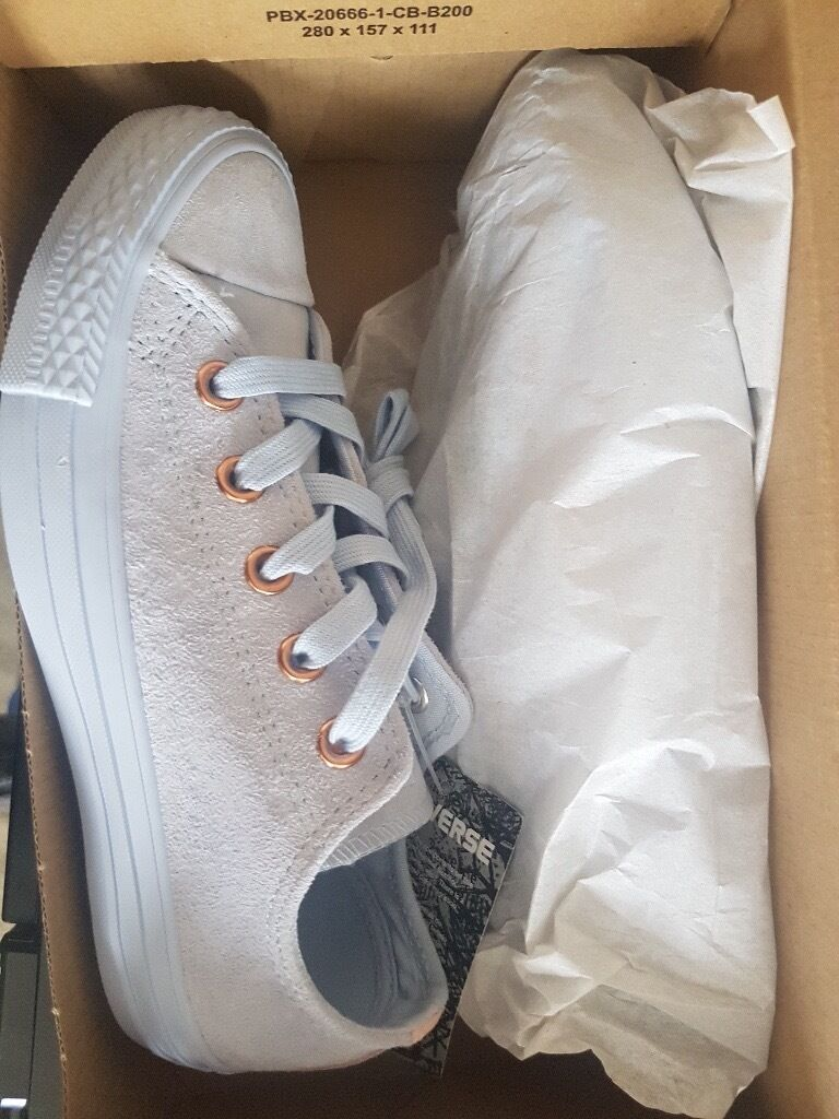 9d8b91b388e9 ... free shipping converse all star low leather trainers porpoise vapour  pink exclusive size 3 bd8df ade41 ...