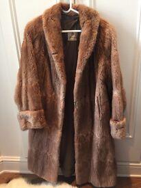 Vintage fur coat - musquash