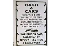 Cash for cars £€$¥