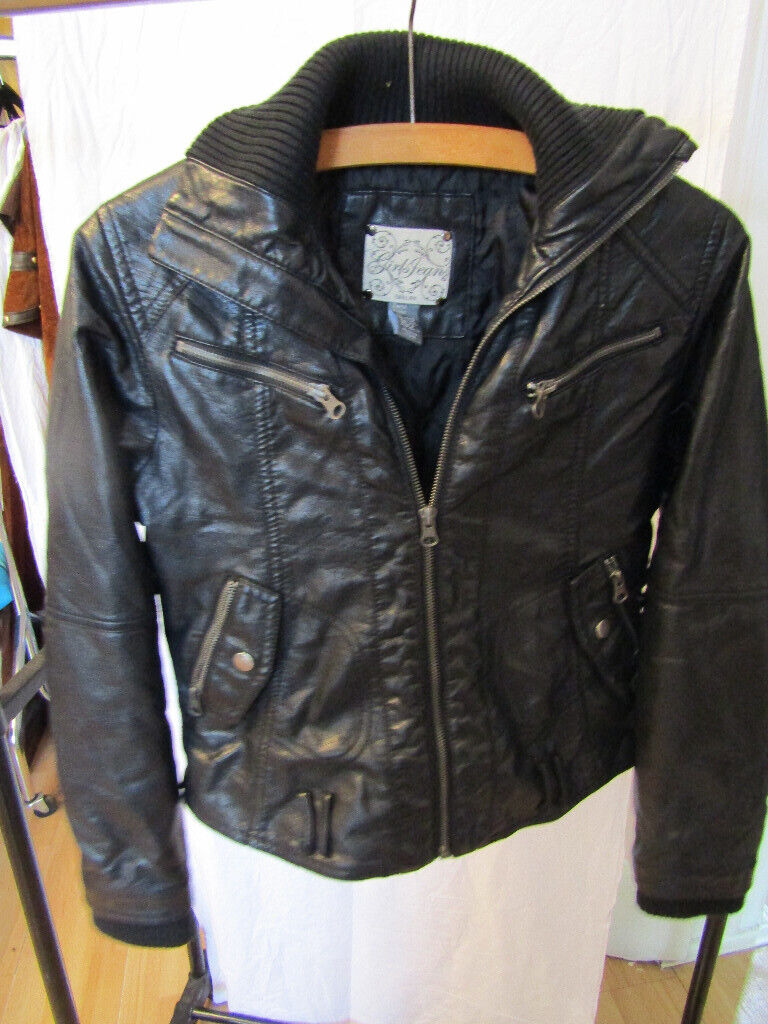 4bc737ab67a Zara Kids Girls faux leather jacket, black, age 11-12 | in Bournemouth,  Dorset | Gumtree