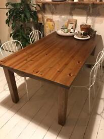 Large solid PINE wood dining table