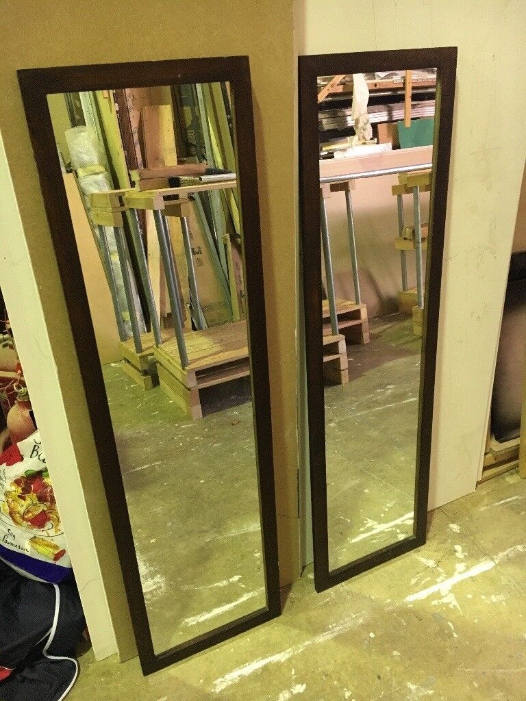 Mirror second hand 1255mm x 358 mm wooden frame could be up cycled