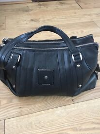 Real leather Modalu London black handbag, perfect new condition