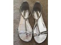 Ladies DUNE diamanté sandals, size 38, beautiful!
