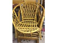 3 SINGLE CAINE CHAIRS
