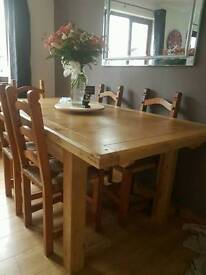 Real Oak Extending Dining room table
