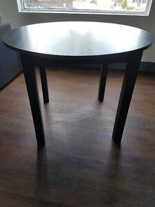 Ikea black brown round table