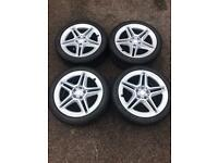 """Set of 18"""" genuine Mercedes alloy wheels and tyres"""