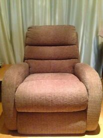 La-Z-Boy fabric brown single chair
