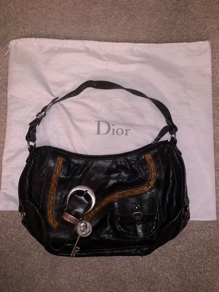 364cba7d7125 Christian Dior Gaucho vintage bag. 100% leather with lined Dior logo  material. Mint condition.