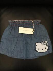 Hello Kitty By Victoria Casal Couture children's age 2 puffed denim skirt