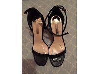 Ladies Black High Heel Evening Sandle