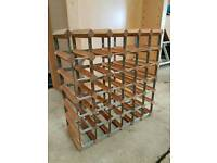 Two Top Quality Traditional Wooden Wine Racks capacity 72 Bottles in Total