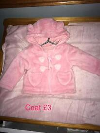 Up to 1month baby girl clothes